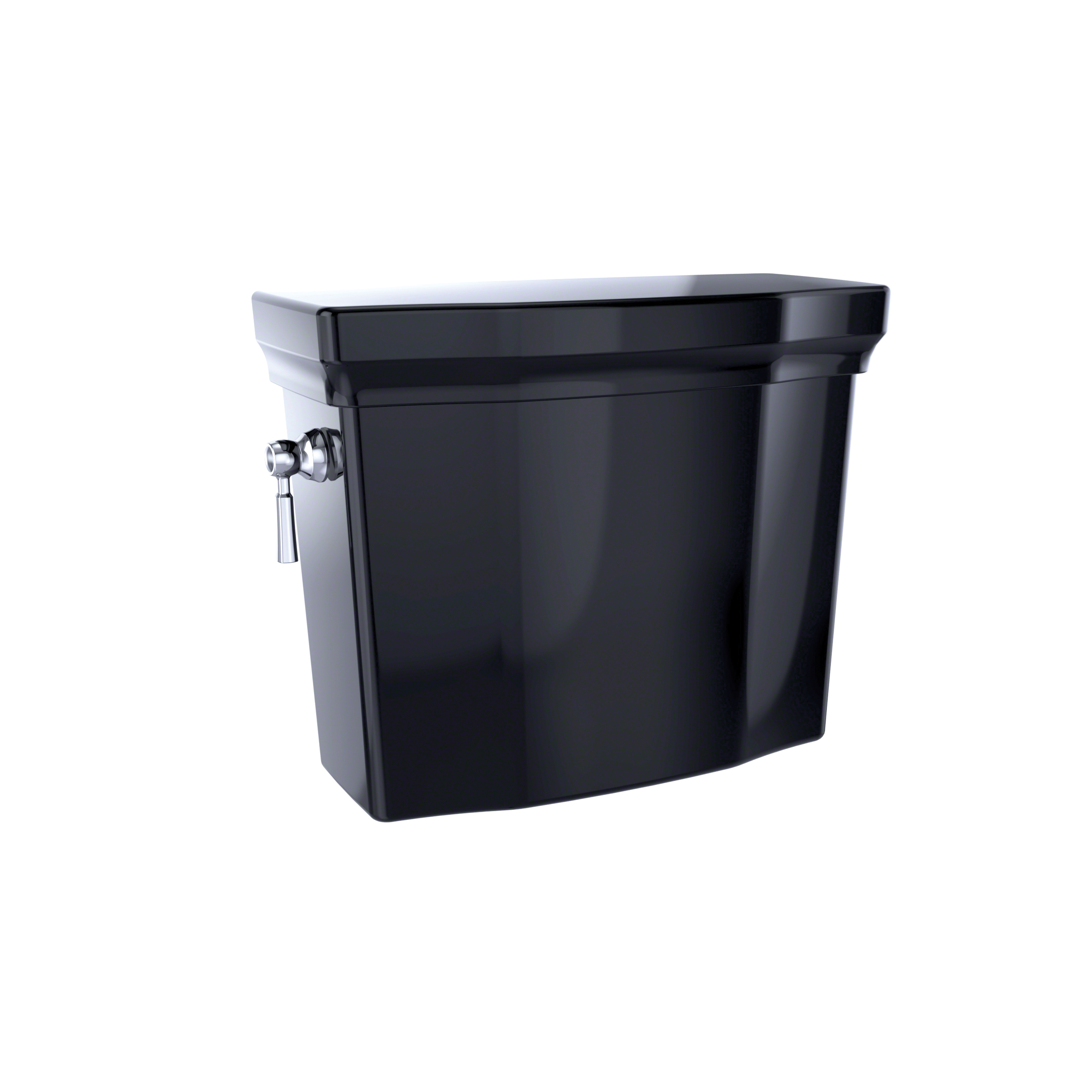 Toto® ST403U#51 Tank and Cover With Trim, 1 gpf, Left Hand Lever Flush Handle, 3 in Flush, Ebony, Domestic