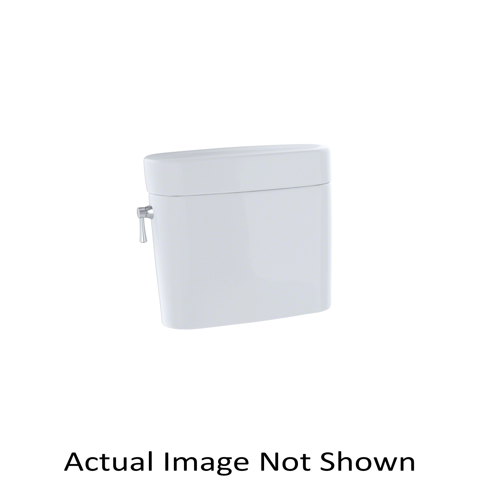 Toto® ST794E#11 Tank and Cover, 1.28 gpf, Left Hand Lever Flush Handle, 3 in Flush, Colonial White, Import