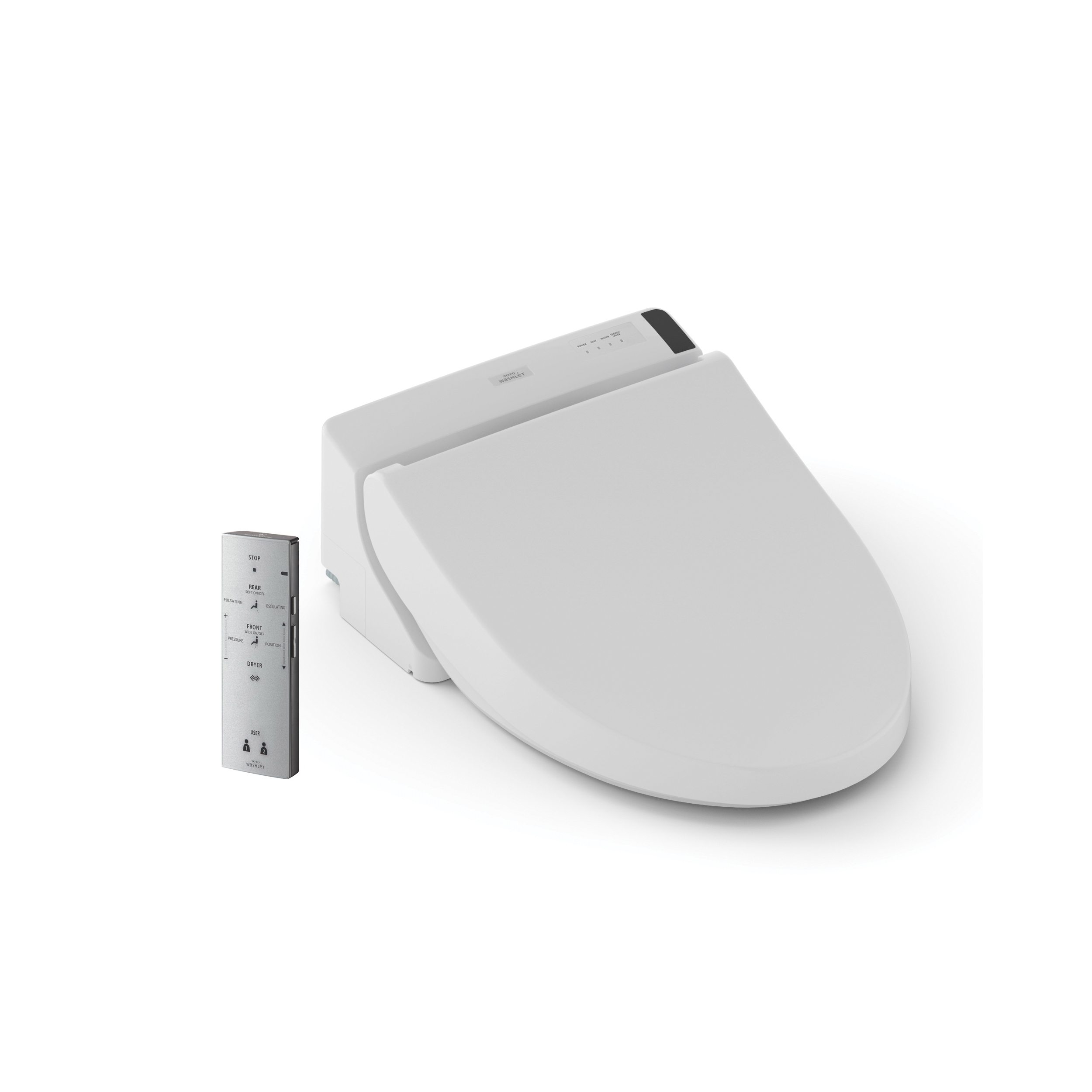 Toto® SW2043 Washlet® C200 Toilet Seat, Round Bowl, Closed Front, Plastic, Sedona Beige, Domestic