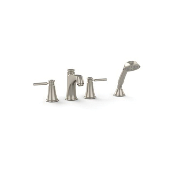 Toto® TB211S#BN Keane™ Roman Tub Filler Trim, Brushed Nickel, 2 Handles, Hand Shower Yes/No: Yes, Residential