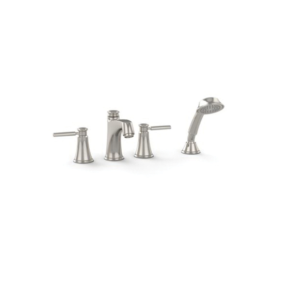 Toto® TB211S#PN Keane™ Roman Tub Filler Trim, Polished Nickel, 2 Handles, Hand Shower Yes/No: Yes, Residential