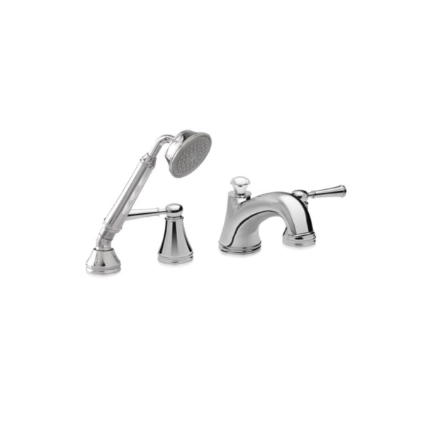 Toto® TB220S1#CP Vivian® Roman Tub Filler Trim, 10 gpm, Polished Chrome, 2 Handles, Hand Shower Yes/No: Yes, Residential
