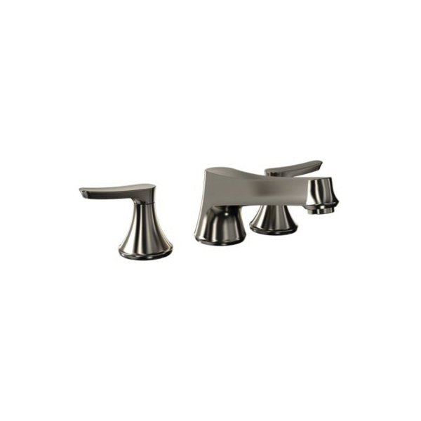 Toto® TB230DD#BN Wyeth™ Roman Tub Filler Trim, 10.5 gpm, 8 to 16 in Center, Brushed Nickel, 2 Handles, Hand Shower Yes/No: No, Residential