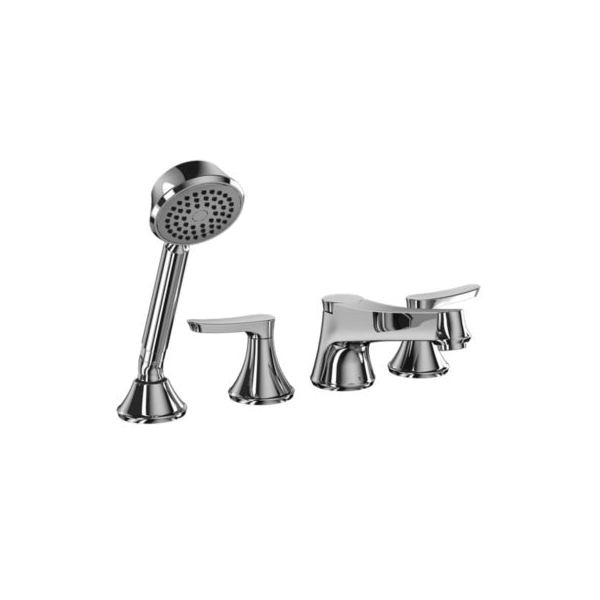 Toto® TB230S#CP Wyeth™ Roman Tub Filler Trim, 10.5 gpm, Polished Chrome, 2 Handles, Hand Shower Yes/No: Yes, Residential