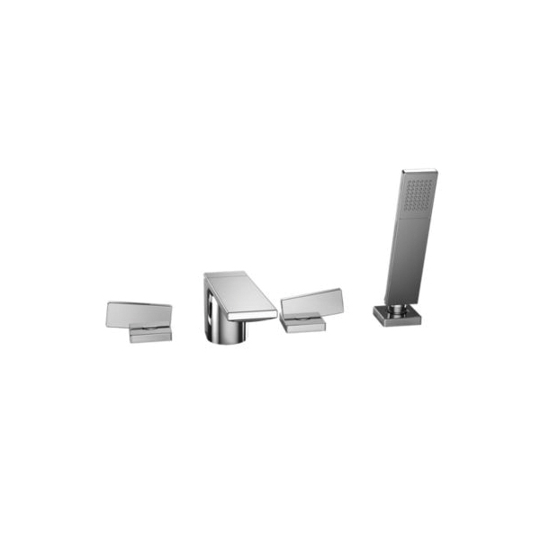 Toto® TB624S1#CP Legato™ Roman Tub Filler Trim, 2.5 gpm, Polished Chrome, 2 Handles, Hand Shower Yes/No: Yes, Residential