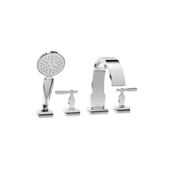 Toto® TB626S1#CP Aimes® Roman Tub Filler Trim, 2.5 gpm, Polished Chrome, 2 Handles, Hand Shower Yes/No: Yes, Residential