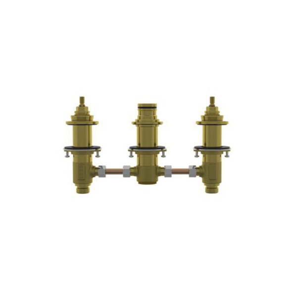 Toto® TBMT2 Rough-In 3-Hole Roman Tub Filler, 1/2 in NPSM Inlet, 80 psi, Forged Brass Body