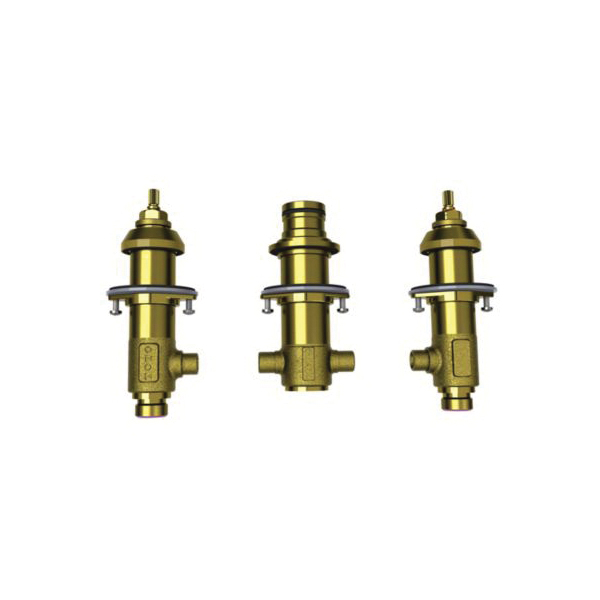 Toto® TBMT Rough-In 3-Hole Roman Tub Filler, 1/2 in NPSM Inlet, Brass Body