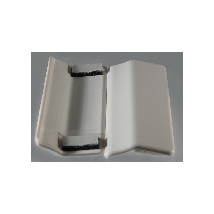 Toto® TCU974CV#03 2-Piece Side Plate With Velcro Tape, For Use With Guinevere® CST974CF(G)/MS974224CEF(G) 1.28 gpf Tornado Flush™ UniFit Rough-In Elongated Toilet, Bone