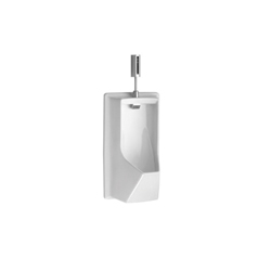 Toto® UE930#01 Lloyd™ Washout Urinal With Electronic Flush Valve, Elongated Bowl, 0.5/1 gpf, Top Spud, Wall Mount, Cotton