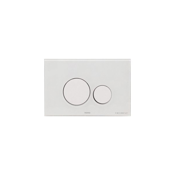 Toto® YT994#WH Rectangle Push Plate With Dual Button, For Use With WT174M In-Wall Tank System, ABS/Glass, White, Import