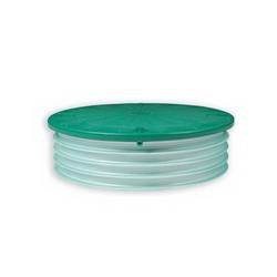 Tuf-Tite® 24-RISL-FLAT Flat Riser Lid, For Use With Riser, IPEX-PVC Ribbed Pipe, Corrugated Pipe, 24 in Dia, Green, Domestic