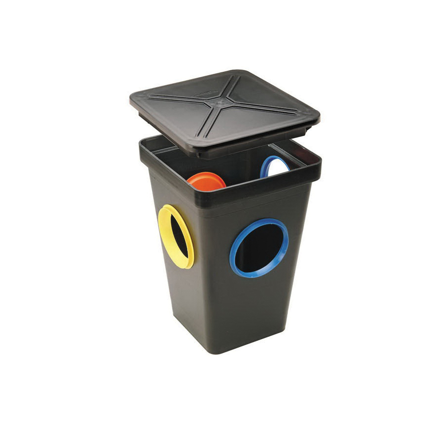 Tuf-Tite® 4HD2 Distribution Box With Lid, HDPE, Black, Domestic