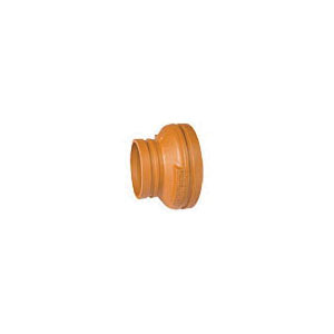 Grinnell Fire 2503020S Concentric Reducer, 3 x 2 in, Grooved, Ductile Iron, Painted