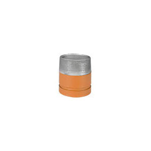 Grinnell Fire 75123 391 Pipe Adapter Nipple, 2 in x 4 in L Grooved x MNPT, Carbon Steel, Non-Lead Orange Painted, SCH 40/STD, Fabricated, Domestic