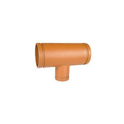 Grinnell Fire 2216040S Reducing Tee, 6 x 4 in, Grooved, Ductile Iron, Non-Lead Orange Painted, Domestic