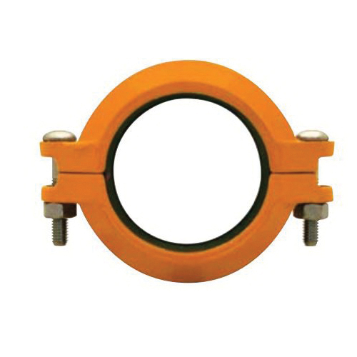 "Grinnell Fire 77240HES No 772 Rigid Coupling With Grade ""E"" EPDM Gasket, 4 in, Ductile Iron, Non-Lead Paint"