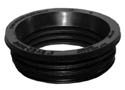 Tyler Pipe EZ-Tight 004950 1-Piece Service Compression Gasket, 2 in, Neoprene