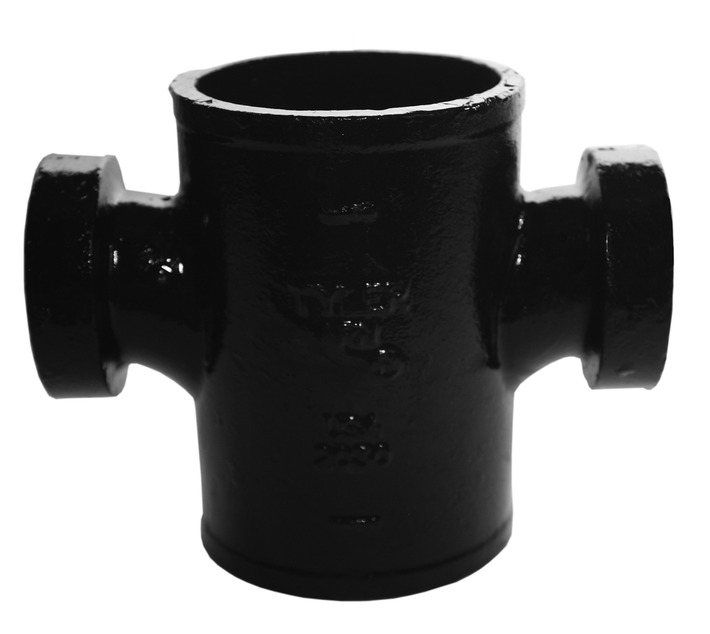 Tyler Pipe 009337 Tapped Sanitary Cross, 3 x 1-1/2 in, No Hub, Cast Iron