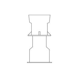 TYLER UNION® 145875 Standard Adjustable Slip Water Valve Box Combo, 16 in Dia Top x 36 in Dia Bottom, Domestic