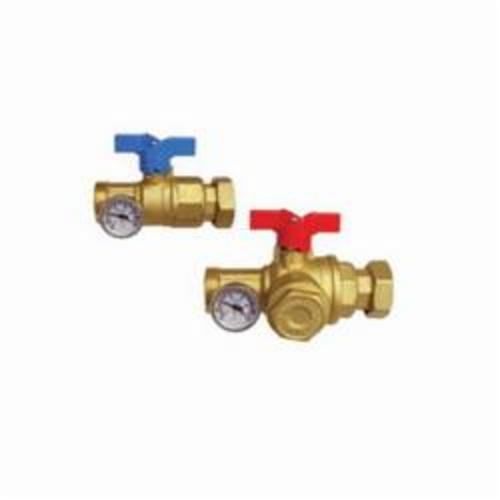 Uponor TruFLOW™ A2631252 Manifold Supply and Return Ball Valve, R32 x 1-1/4 in, Male, 145 psi, Brass Body