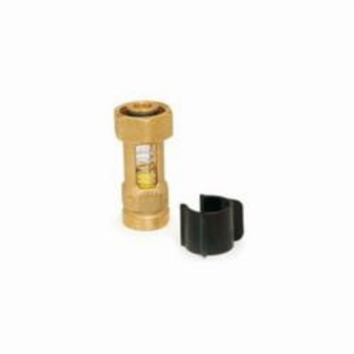 Uponor TruFLOW™ A2640015 Visual Flow Meter, 0.15 to 0.8 gpm, Brass/Glass