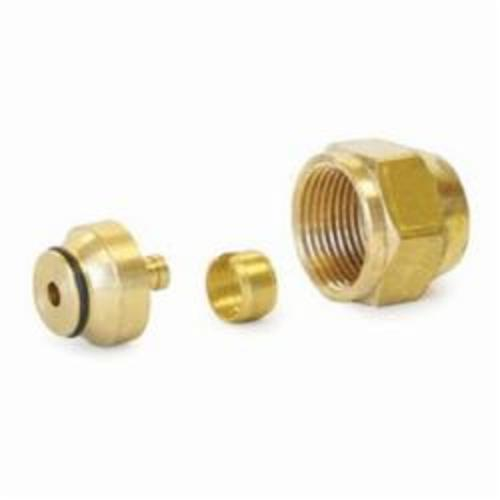 Uponor A4020375 QS-Style Compression Fitting Assembly, R20 x 3/8 in, Compression, 125 psi, Brass