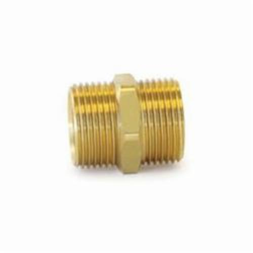 Uponor A4322020 QS-Style Coupling Nipple, R20, 125 psi, Brass