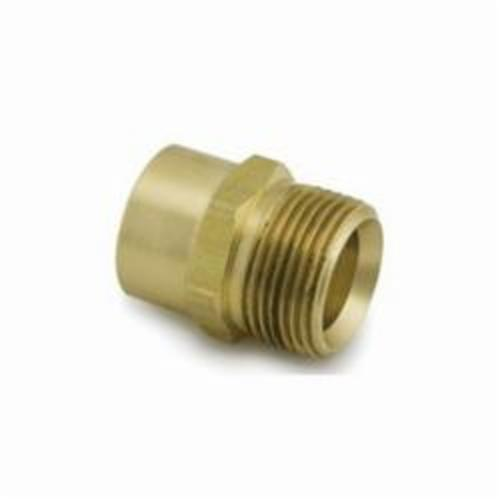 Uponor A4332575 QS-Style Copper Adapter, R20 x 3/4 in, C x C, 125 psi, Brass
