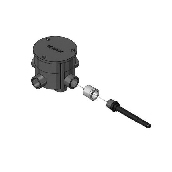 Uponor A9013060 Snow-Melt Rough-in Kit and Well, For Use With A9013062 Automatic Snow and Ice Sensor Assembly, 4.1 in H x 5 in W Cup, 4.5 in L x 0.65 in W Sensor Well