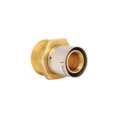 Uponor D4143263 MLC Press Fitting Manifold Straight Adapter, R32 x 5/8 in, Thread x MLC Press Fitting, Domestic
