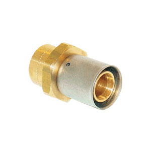 Uponor D4506375 Press Fitting Adapter, 5/8 x 3/4 in, MLC Tube x C, 125 psi, Brass, Domestic