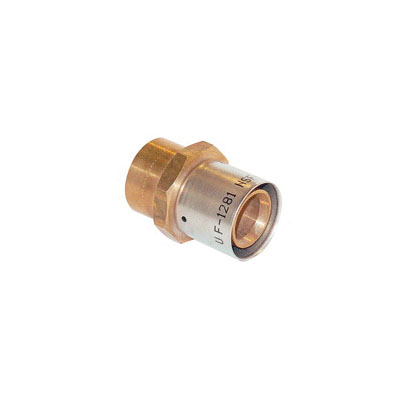 Uponor D4517575 Press Fitting Sweat Adapter, 3/4 in, MLC Tube x C, Brass, Domestic