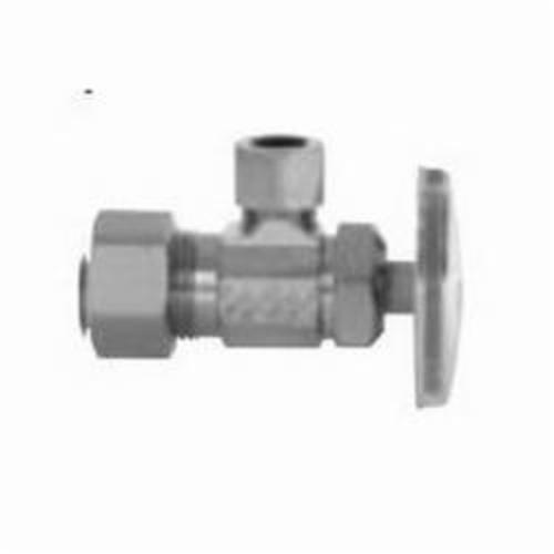 Uponor F4410500 Angle Compression Stop Valve, 1/2 in, PEX, Brass