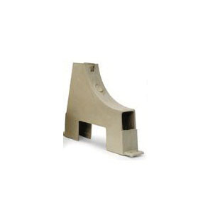 Uponor F5801000 Single Tube Stand-Up Bracket, 1-1/2 in W x 6-1/2 in H, For Use With 1/2 in PEX Tubing, PVC, Domestic