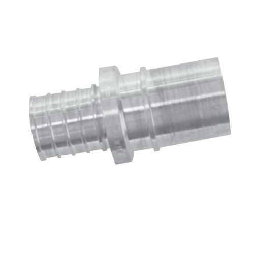 Uponor K4507510 Fitting Adapter, 3/4 x 1 in, PEX x Copper, APR Brass