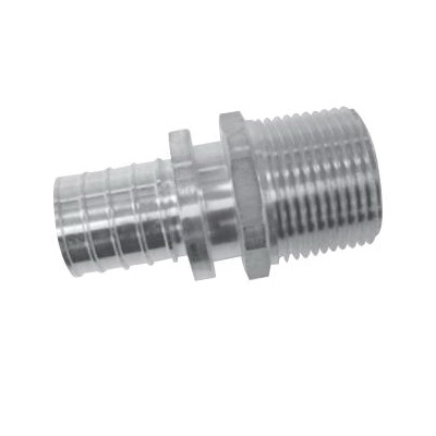 Uponor K4521313 Threaded Adapter, 1-1/4 in, PEX x MNPT, APR Brass
