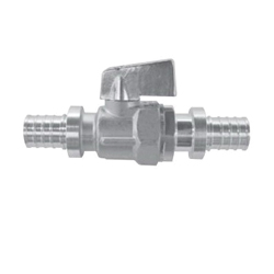 Uponor K4815050 Large Bore Ball Valve, 1/2 x 1/2 in, PEX, Brass Body