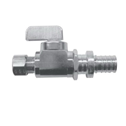 Uponor K4885038 Straight Stop Valve, 1/2 in, PEX, Brass Body