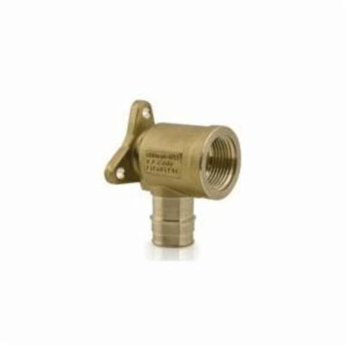 Uponor LF4235038 90 deg Drop-Ear Elbow, 1/2 x 3/8 in, ProPEX® x FNPT, Brass