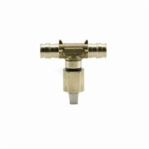 Uponor LF4455050 In-Line Ice Maker Tee, 1/2 x 1/2 x 1/4 in, ProPEX® x ProPEX® x OD Compression, Brass