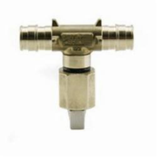 Uponor ProPEX® LF4786025 Ice Maker Valve, 3/4 x 1/4 in, PEX x OD (Straight), 250 psi, Brass Body