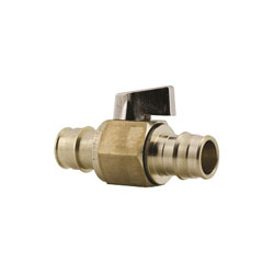 Uponor ProPEX® LF4815055 Stop and Drain Ball Valve, 1/2 in, PEX, 250 psi, Brass Body, Domestic