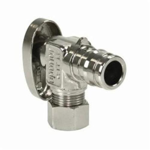 Uponor LF4855038 Full Port Angle Stop Valve, 1/2 x 3/8 in, ProPEX®, 145 psi, Brass Body, Domestic