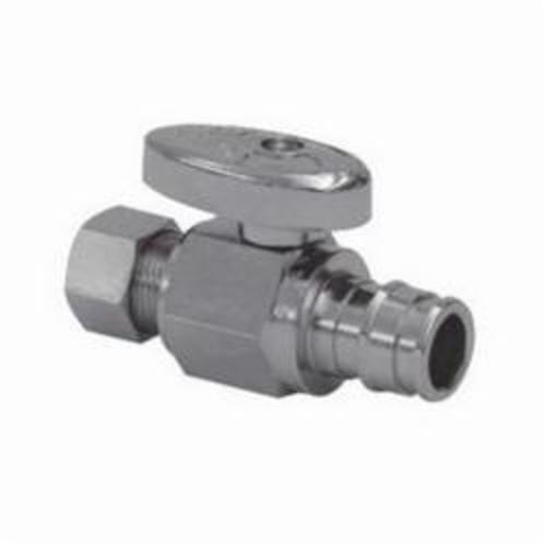Uponor LF4865038 Straight pattern Stop Valve, 1/2 in, PEX, Brass Body