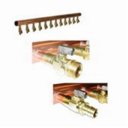 Uponor ProPEX® Q2811275 Valved Manifold With Ball Valve, 12 3/4 in ProPEX Outlets 2 in Inlets, Copper
