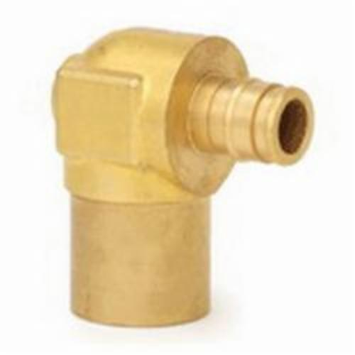 Uponor ProPEX® Q4385075 Baseboard Elbow, 1/2 x 3/4 in, PEX x C Adapter, Brass