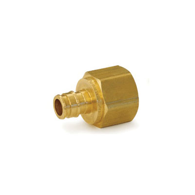 Uponor ProPEX® Q4576375 Female Threaded Adapter, 5/8 x 3/4 in, PEX x FNPT, Brass, Domestic