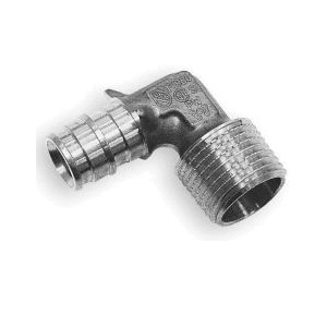 Uponor Q4743850 90 deg Elbow, 1/2 x 3/8 in, ProPEX® x MNPT, Brass