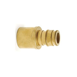 Uponor ProPEX® Q5517550 Sweat Adapter, 3/4 x 1/2 in, PEX x C, Brass, Domestic